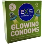 EXS Glowing Condoms 3-pakkaus